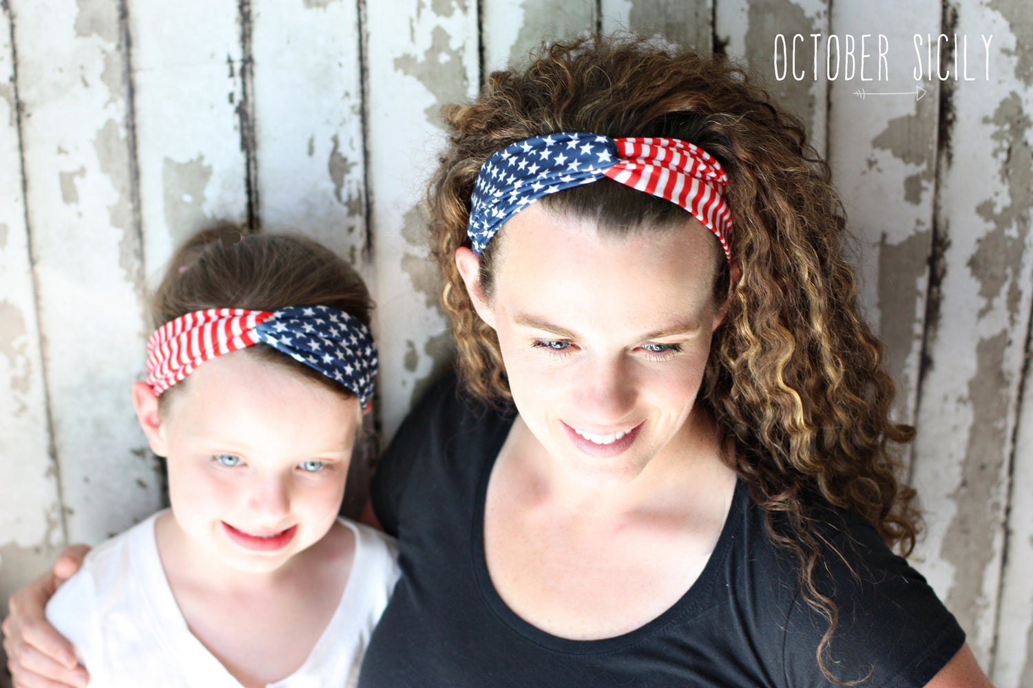 Image of Mommy & Me AMERICAN flag headbands