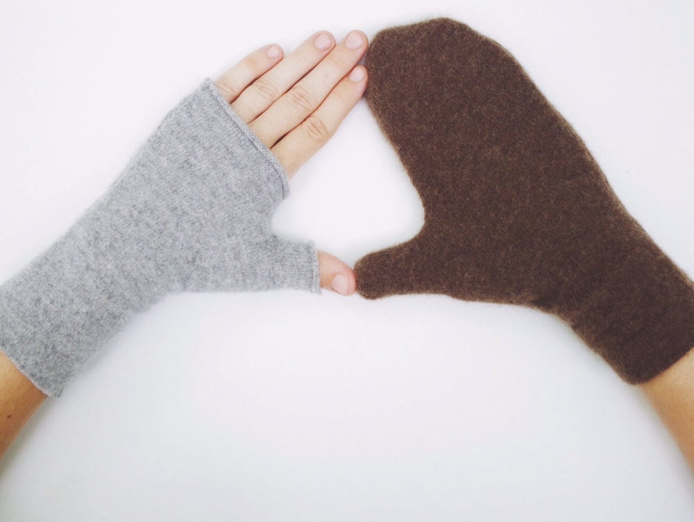 Image of Cashmere fingerless gloves