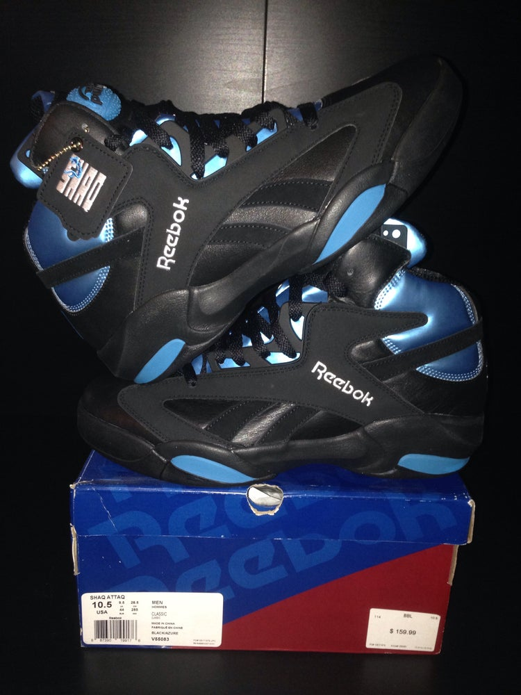 "Image of Reebok Shaq Attaq's ""Black/Azure"""