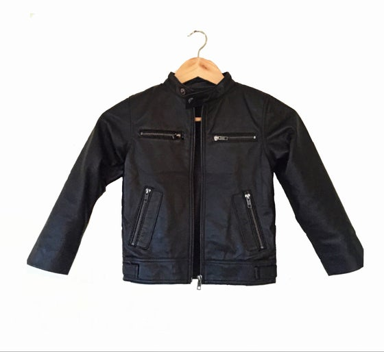 Image of Spur Unisex eather Biker Jacket CHILD and ADULT