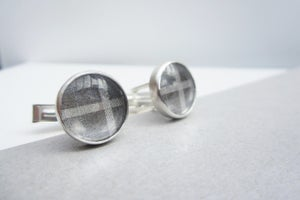 Image of Grey Check Cufflinks