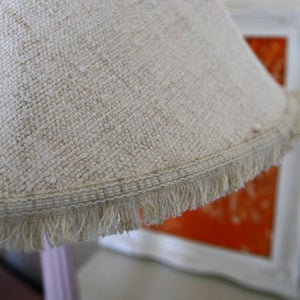Image of Handloomed Antique Linen/Hemp Lampshade