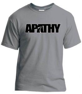 Image of Apathy Classic Logo - Gravel Grey Tee