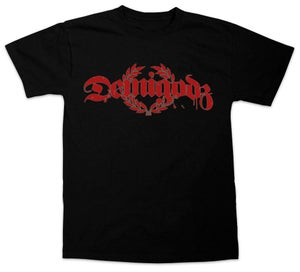 Image of Demigodz Classic Red Print T-Shirt - Black Tee
