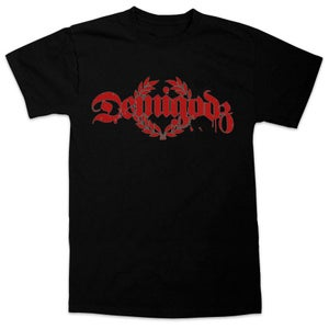 Image of Demigodz Classic Red Print T-Shirt - Black Tee