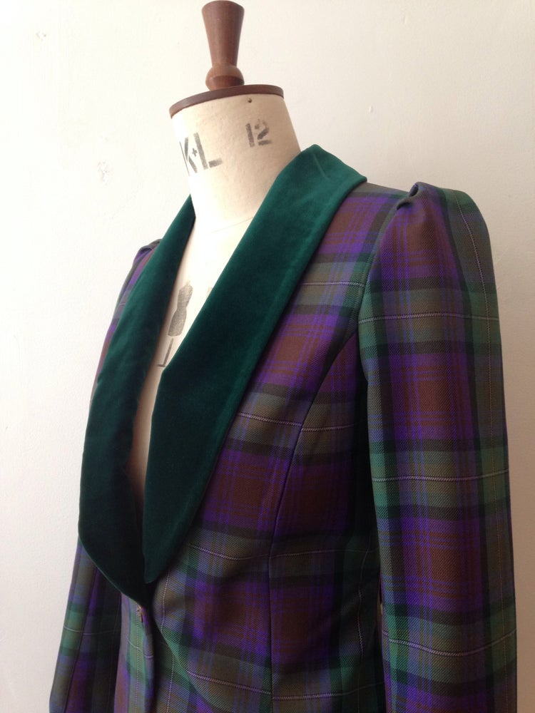 Image of Velvet and tartan show jacket