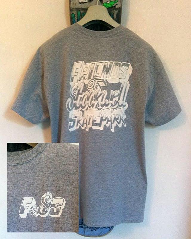 Image of FoSS - tshirt 1 (grey/white)