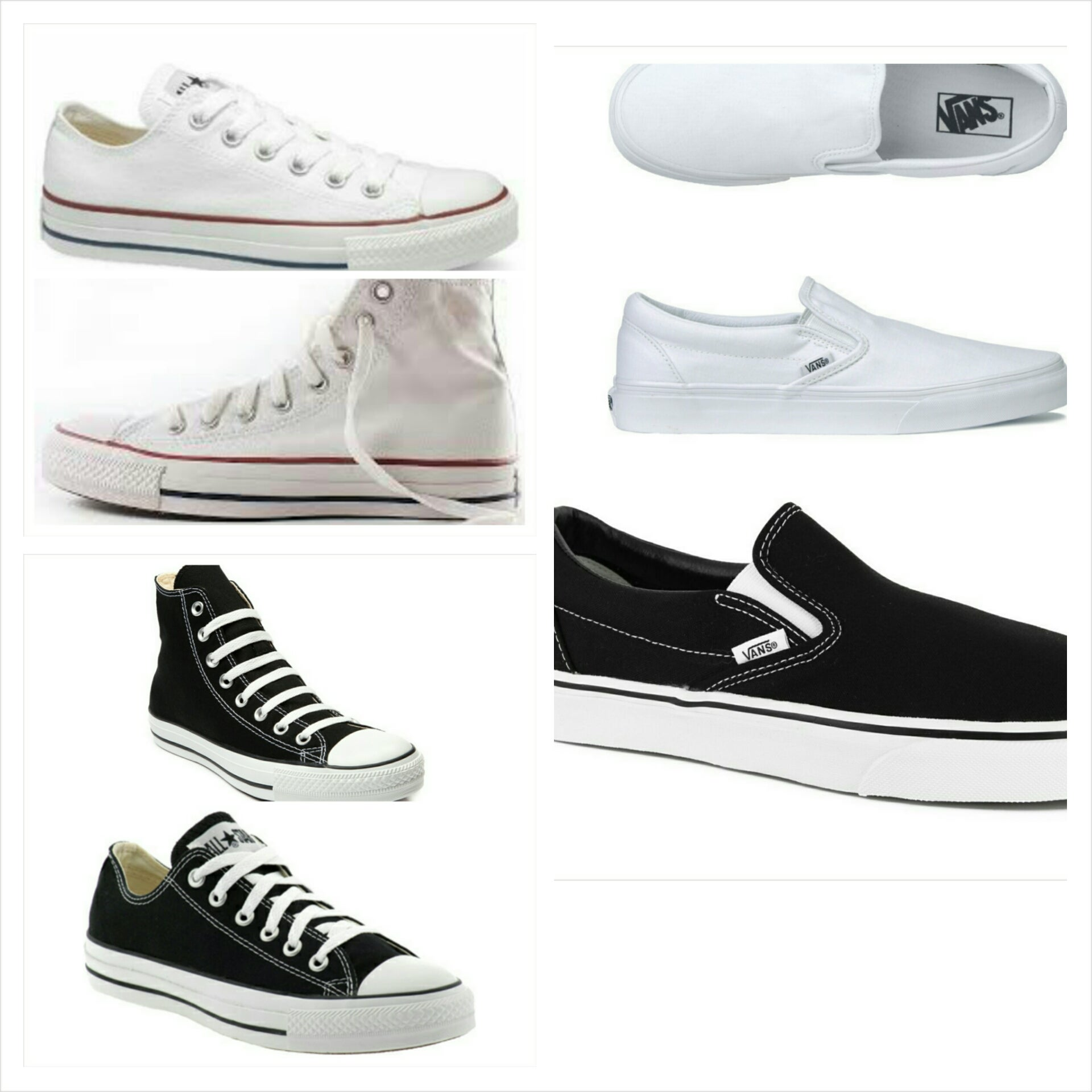 converse vs vans. image of custom converse or vans vs