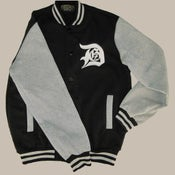 Image of Demigodz DGZ Varsity Jacket - Black & Grey