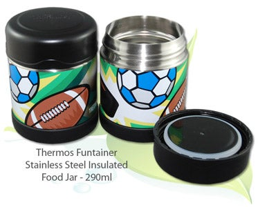 Image of Thermos Funtainer 290ml Stainless Steel Food Jar - Multi-Sports