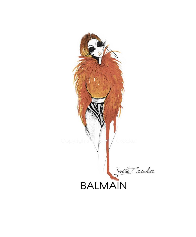 Image of BALMAIN Orange Fur