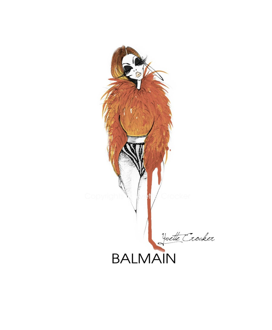 Image of BALMAIN Orange Fur