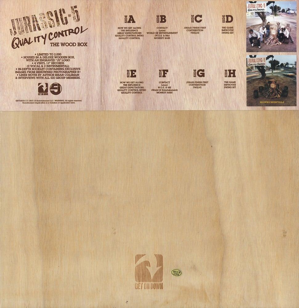 Image of JURASSIC 5-QUALITY CONTROL WOOD BOX SET