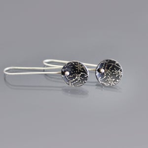Image of Vine Lace Saucer Earrings