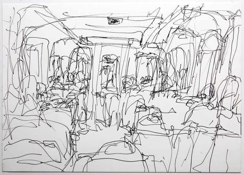 Image of Small Blind Train (4) 2010, A4 size