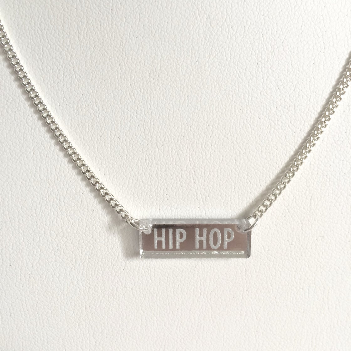 Image of Custom CLASSIC SILVER BAR Acrylic Necklace