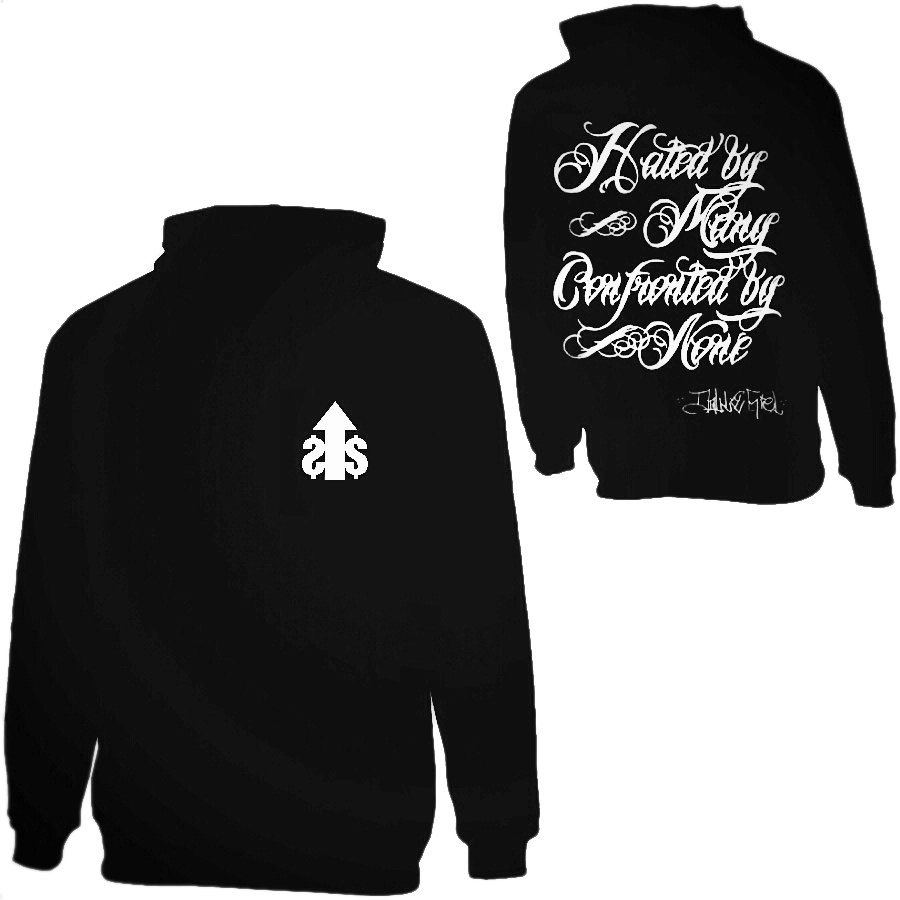 Image of Hated By Many Confronted By None Hoodie - Back Print