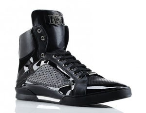 Image of VERSACE-Patent Leather High Top