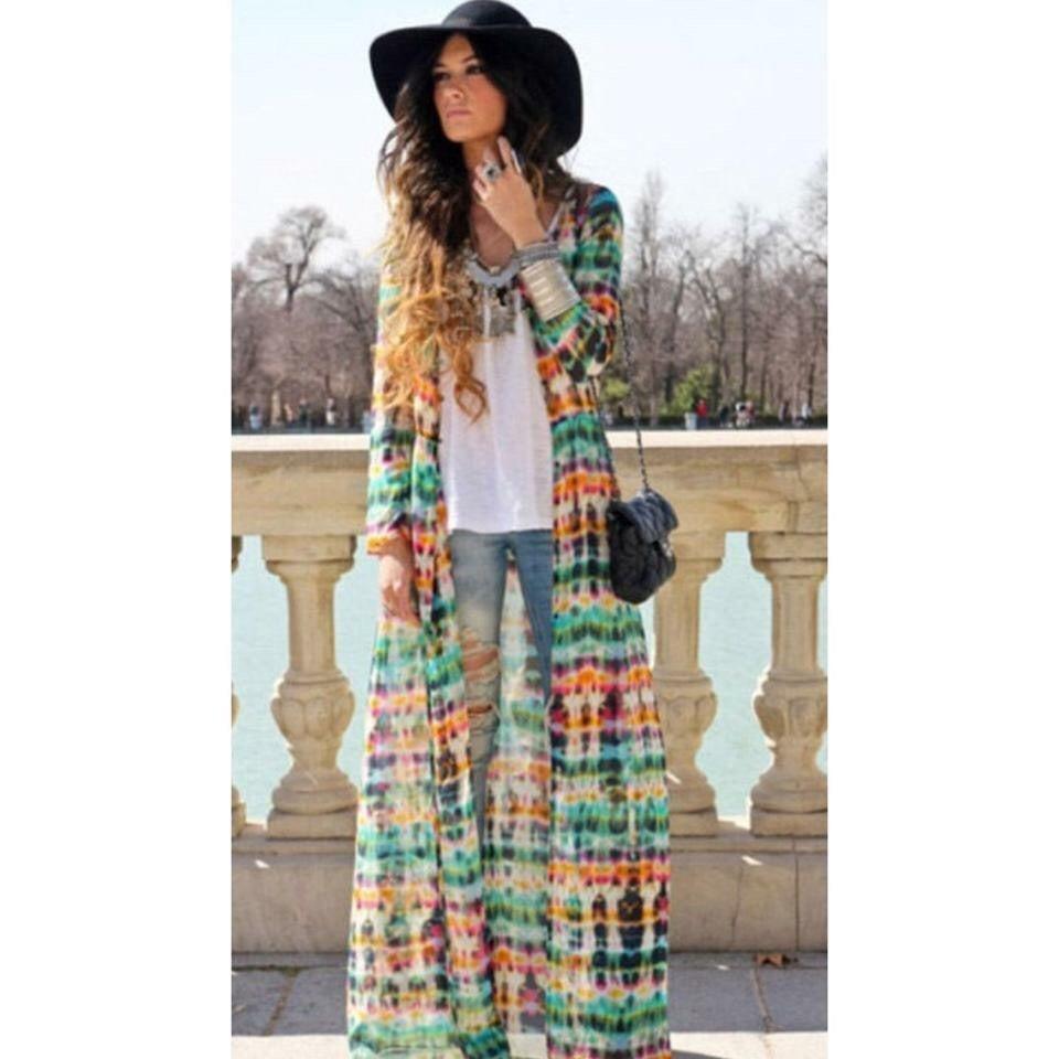 Image of Maxi long kimono