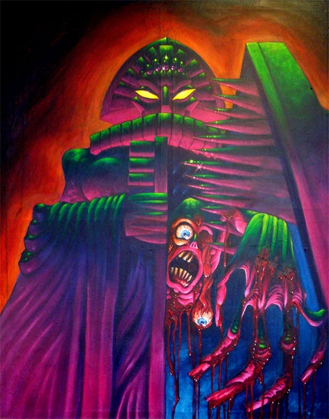 """Image of """"Iron Maiden"""" 31x40inch Canvas"""