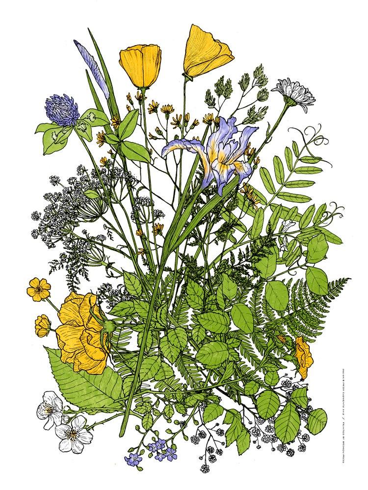 Image of Roadside Bouquet Art Print