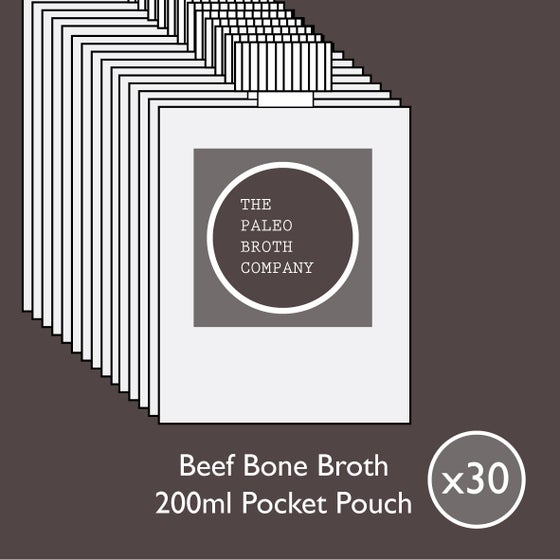Image of Beef Bone Broth - A Month's Supply Special 30x 200ml Pouches *Free Shipping*