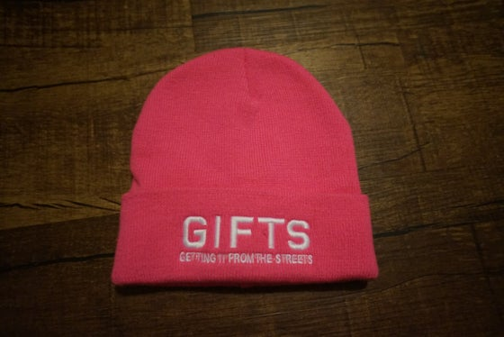 Image of Gifts Original Beanie - Pink & White