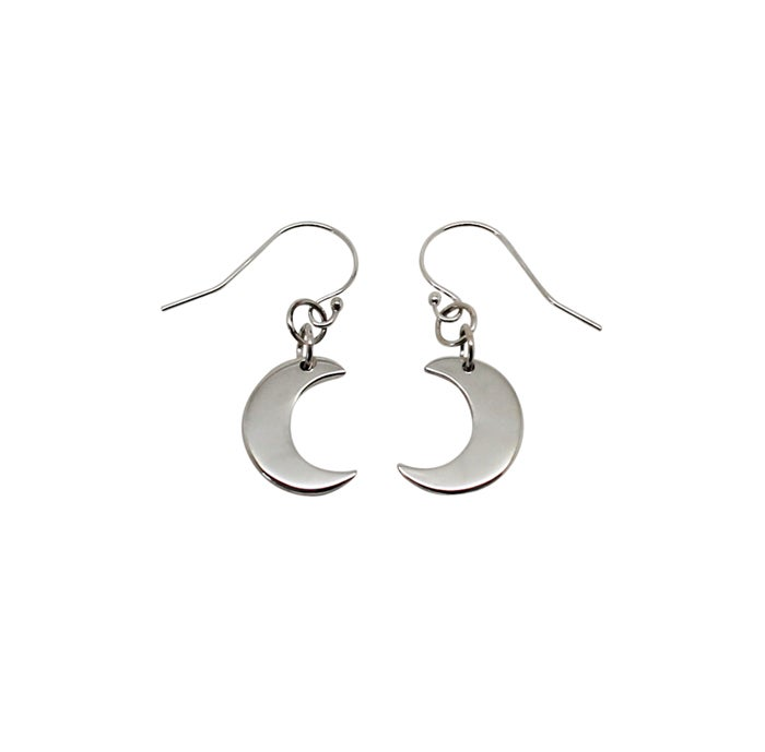"Image of ""Little"" Moon Sterling Silver Earrings"