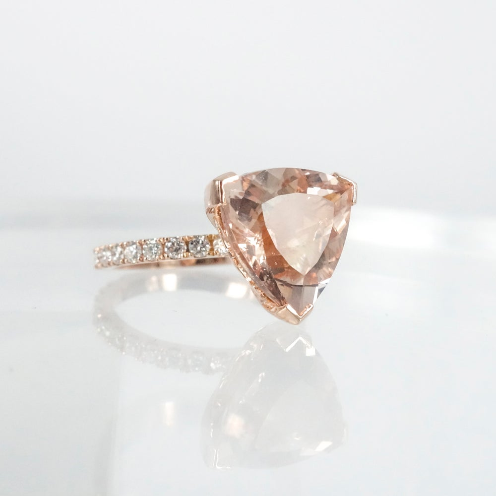 Image of 18ct rose gold Morganite engagement ring
