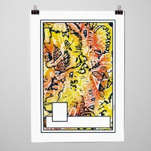 """Image of Sérigraphie """"Panini 2 orange"""" par l'Atelier La Casse"""