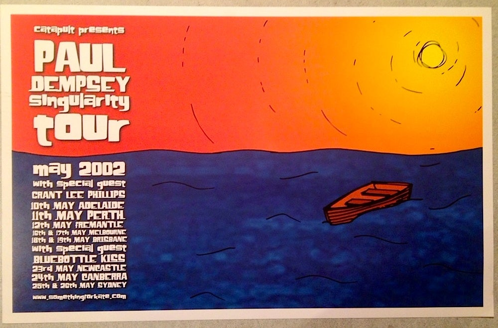 Image of Paul Dempsey Singularity Tour Poster -rare & limited - 'signed/unsigned'