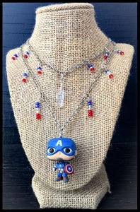 Image of Captain America Pop Necklace