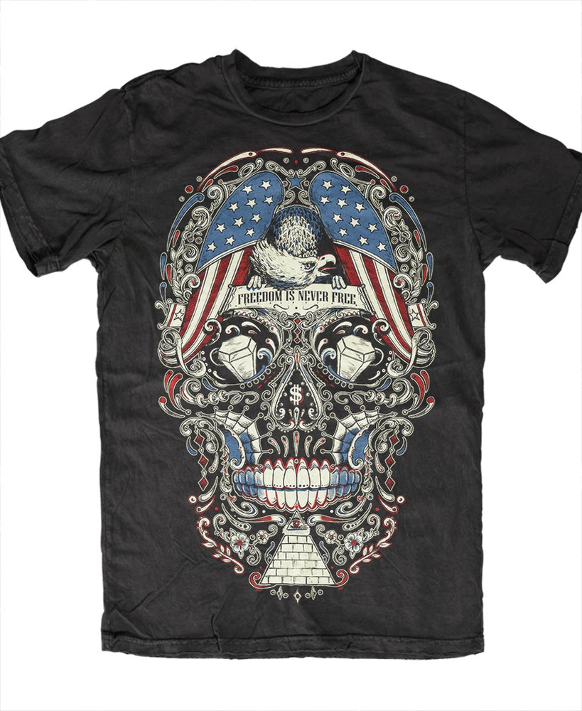 Image of Free for the Dead Sugar Skull T