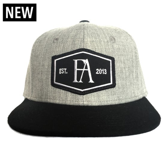 Image of Fifty Aces Grey/Black Badge Snapback Hat