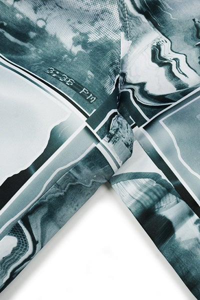 Image of WARPED COLLAGE Shorts - Black and White