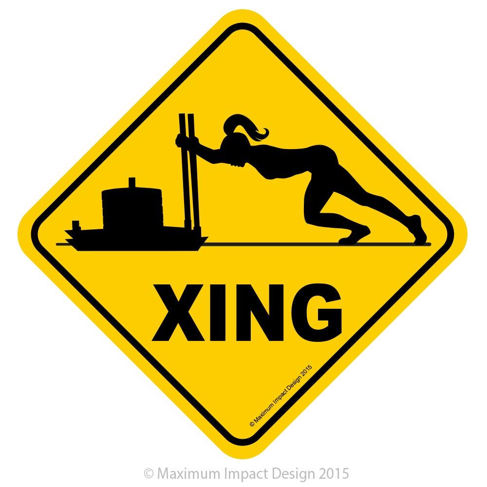 "Image of Badass CF Push Cross Diamond Sign 18"" x 18"""