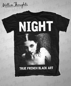 Image of Night - True French Black Art T-Shirt