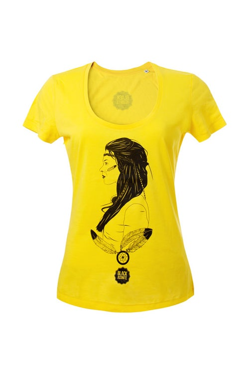 Image of Indienne - Tee-shirt col rond femme