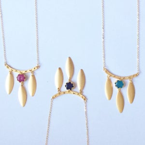 Image of Petal Crescent Necklace - 3 styles available BACK SOON