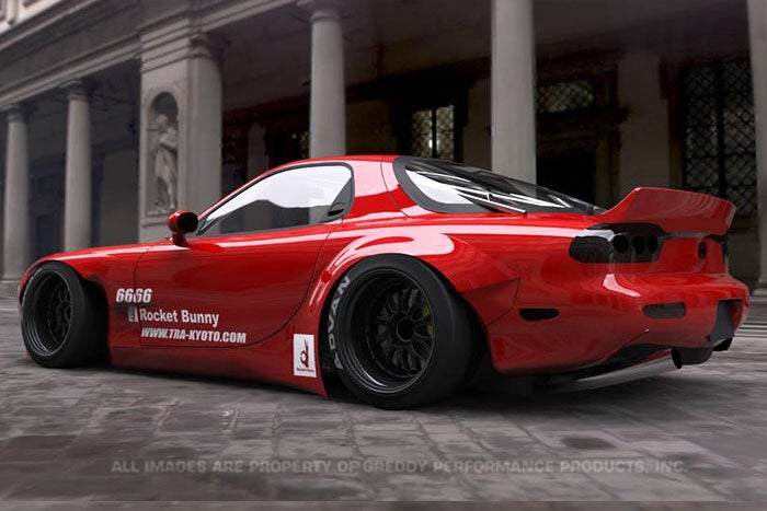 Jdm Black Market Rocket Bunny Mazda Rx 7 Widebody Kit