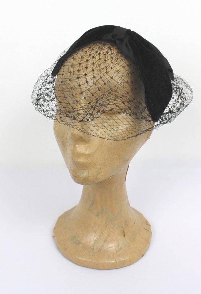 Image of Vintage 1940s 1950s Black Veil