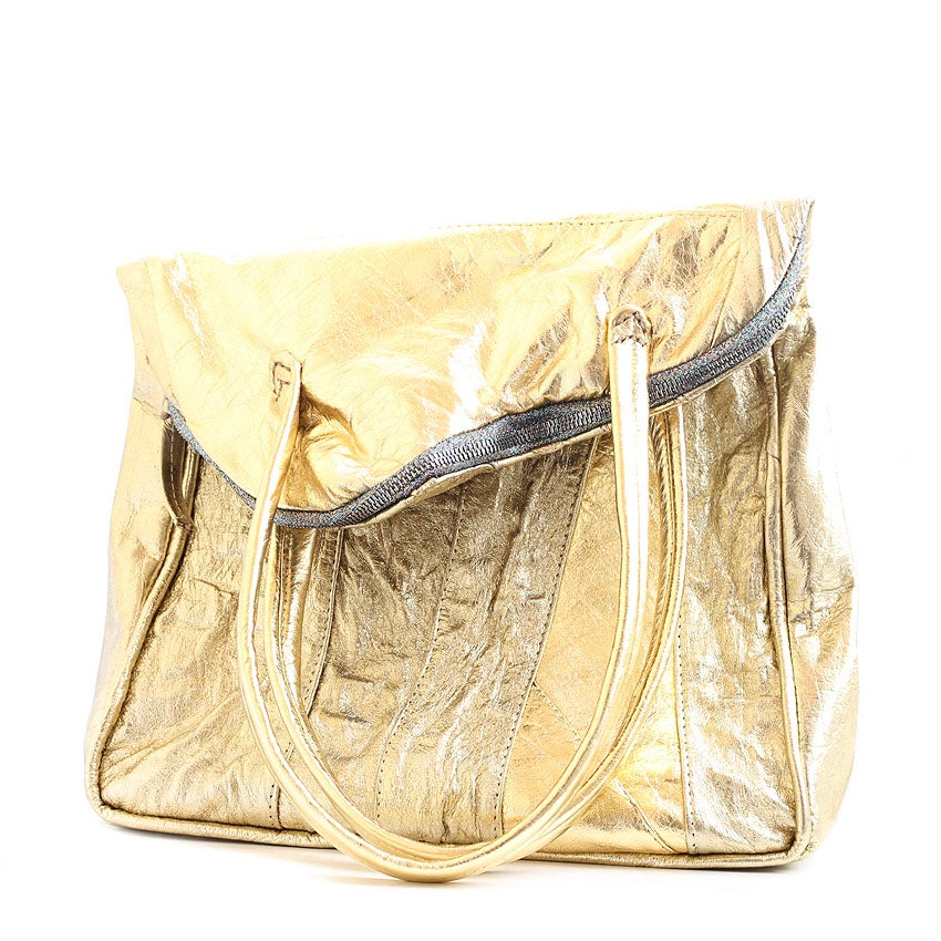 Image of Oshogbo asymmetric bag - Gold