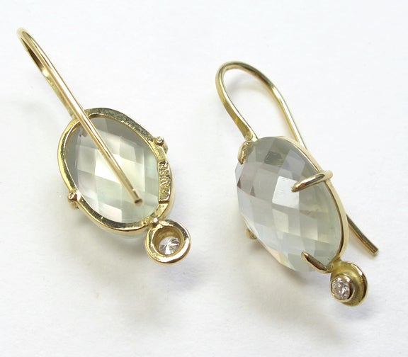 Image of Moonstone Diamond 18k Earring