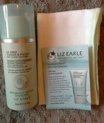 Image of LIz Earle Cleanse and Polish 50ml pump with muslin cloth
