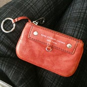 Image of Marc by Marc Jacobs red coin purse wallet