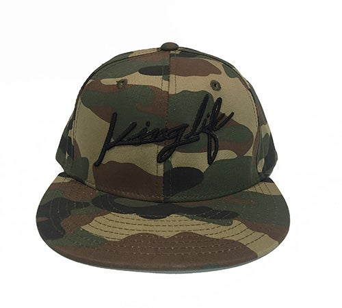 Image of CAMO KINGLIFE SNAPBACK