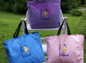 Image of Camping Chick tote bag