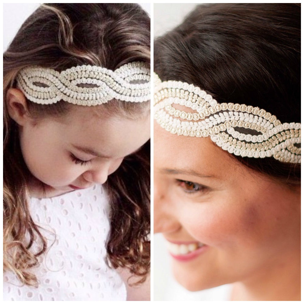 Image of The Olivia Lace Mama and Mini Headband Set