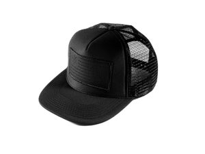 "Image of ""SpeedCorps"" Trucker Hat, Black/Black (P1B-T0518)"