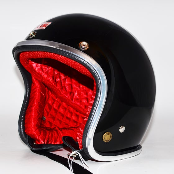 Image of JK400 - Gloss Black & Red Satin